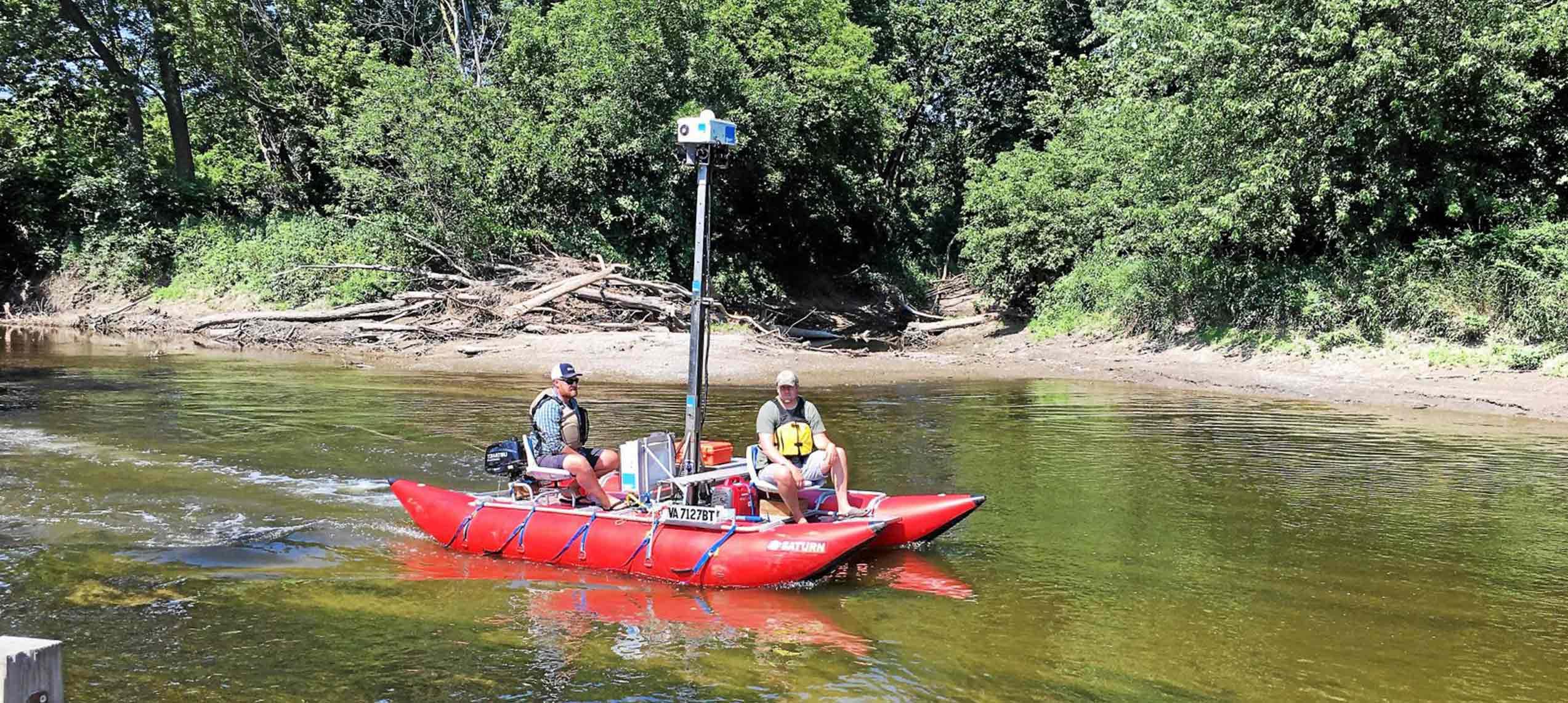 terrain360 mapping boat